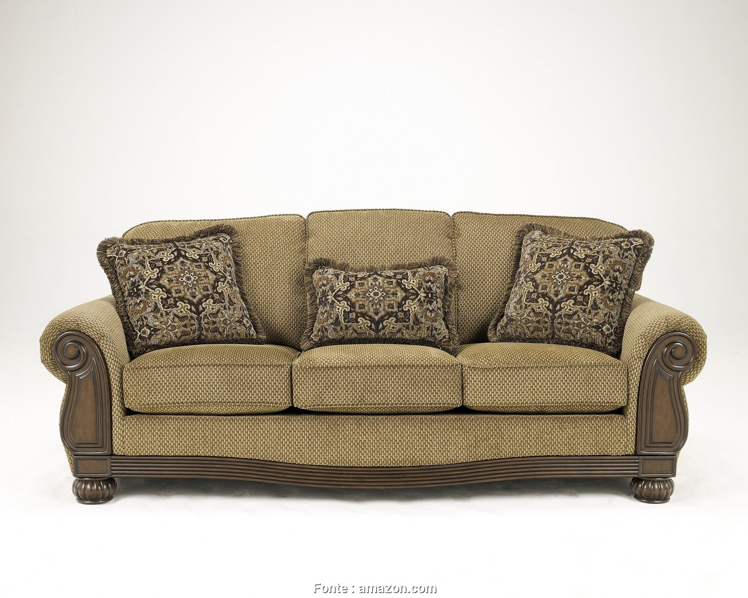 Amazon Plaid, Divano, Originale Amazon.Com: Ashley Furniture Signature Design, Lynnwood Sofa, Traditional Design, Amber: Kitchen & Dining