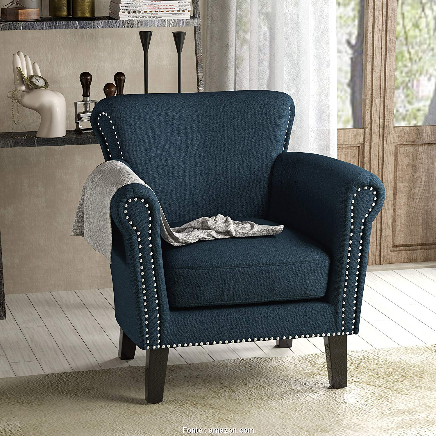 Amazon Plaid, Divano, Migliore Amazon.Com: Christopher Knight Home 302568 Brice-Ckh, Chair, Navy Blue + Dark Brown: Kitchen & Dining