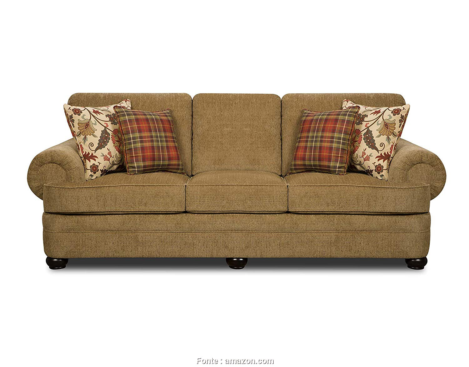 Amazon Plaid, Divano, Maestoso Simmons Upholstery Thunder Sofa, Topaz