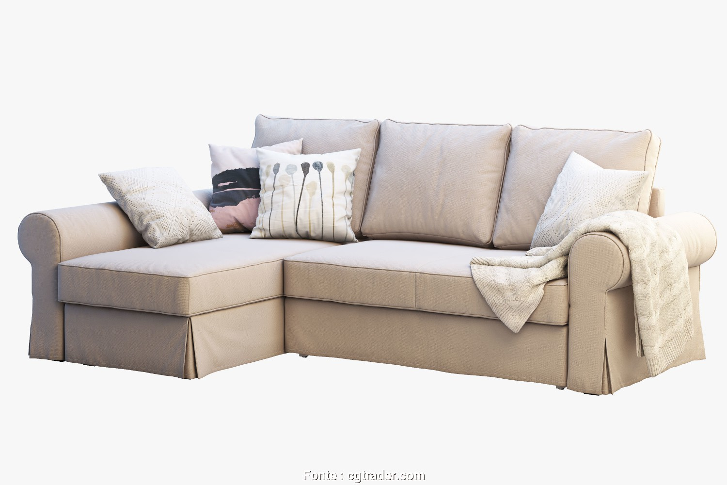 Backabro Ikea Couch, Classy ... Ikea Backabro 2 Sofas 3D Model, Obj, 3Ds, 4