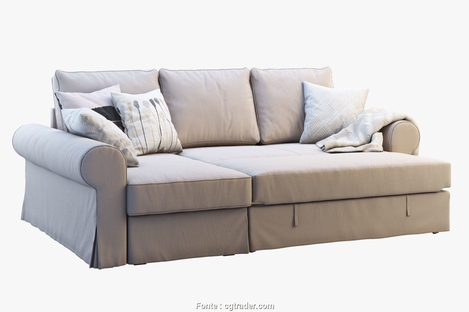 Backabro Ikea Forum, Deale ... Ikea Backabro 2 Sofas 3D Model, Obj, 3Ds, 7