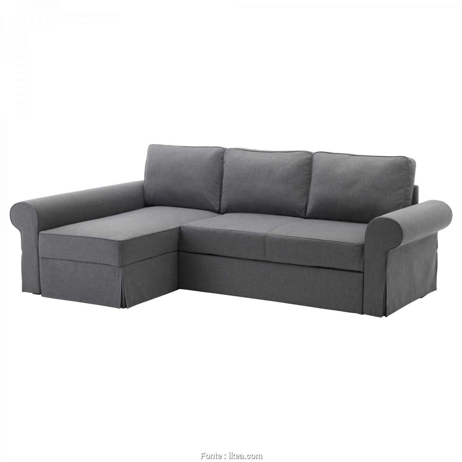 Backabro Ikea Review, Costoso BACKABRO Sofa, With Chaise Longue Nordvalla Dark Grey