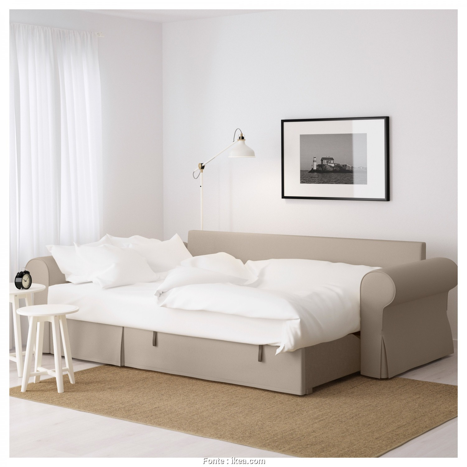 Backabro Ikea Review, Bellissimo IKEA BACKABRO Sofa, With Chaise Longue Readily Converts Into A Bed