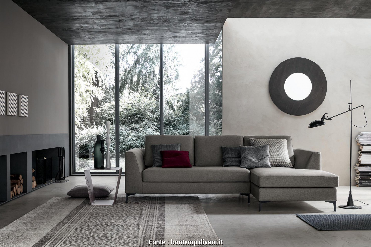 Bontempi Divani.It, Bello The Sofa Is Characterised By A Sinuous Armrest, Wide Seats. Merlino Finds, Place Inside, House As, Real Protagonist. It Creates A Perfect