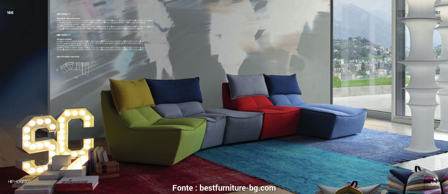 Calia, Hop 830, Classy Sectional Sofas, Sectional Sofa Calia Italia, HOP 830