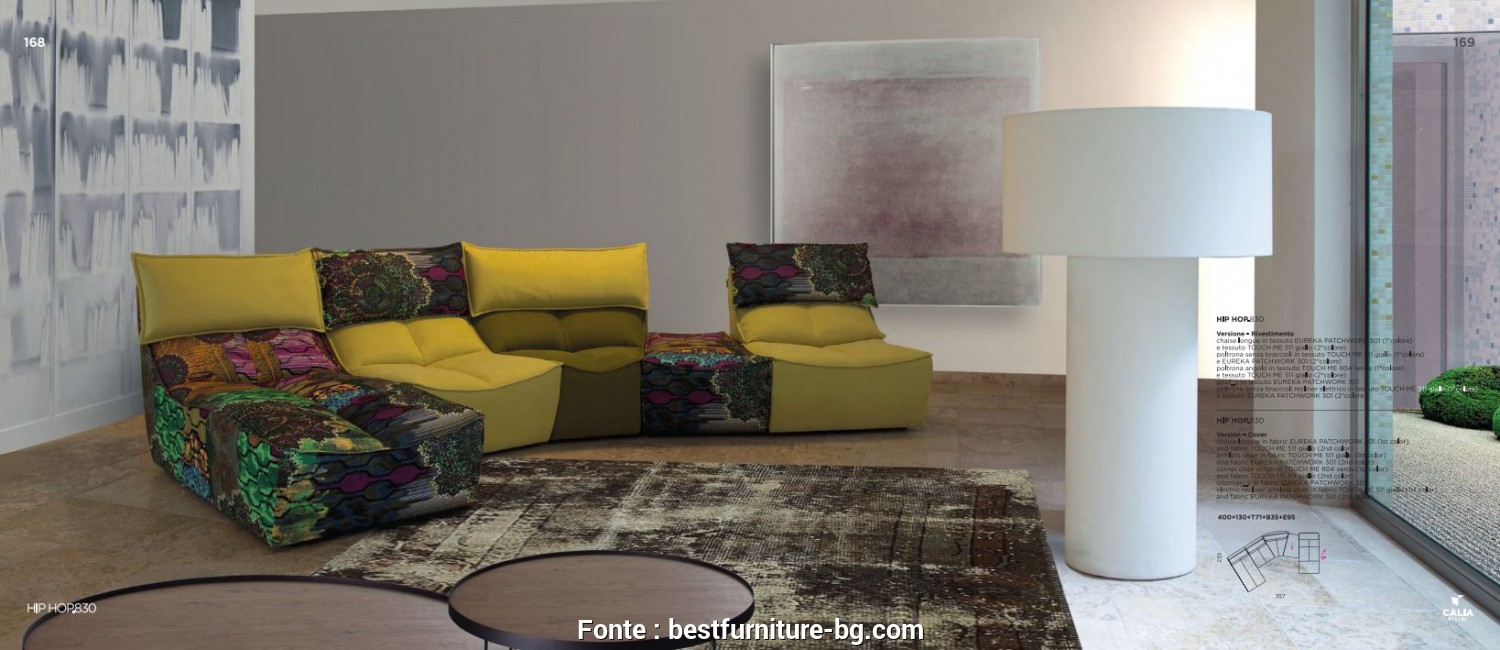 Calia, Hop 830, Elegante Sectional Sofas, Sectional Sofa Calia Italia, HOP 830