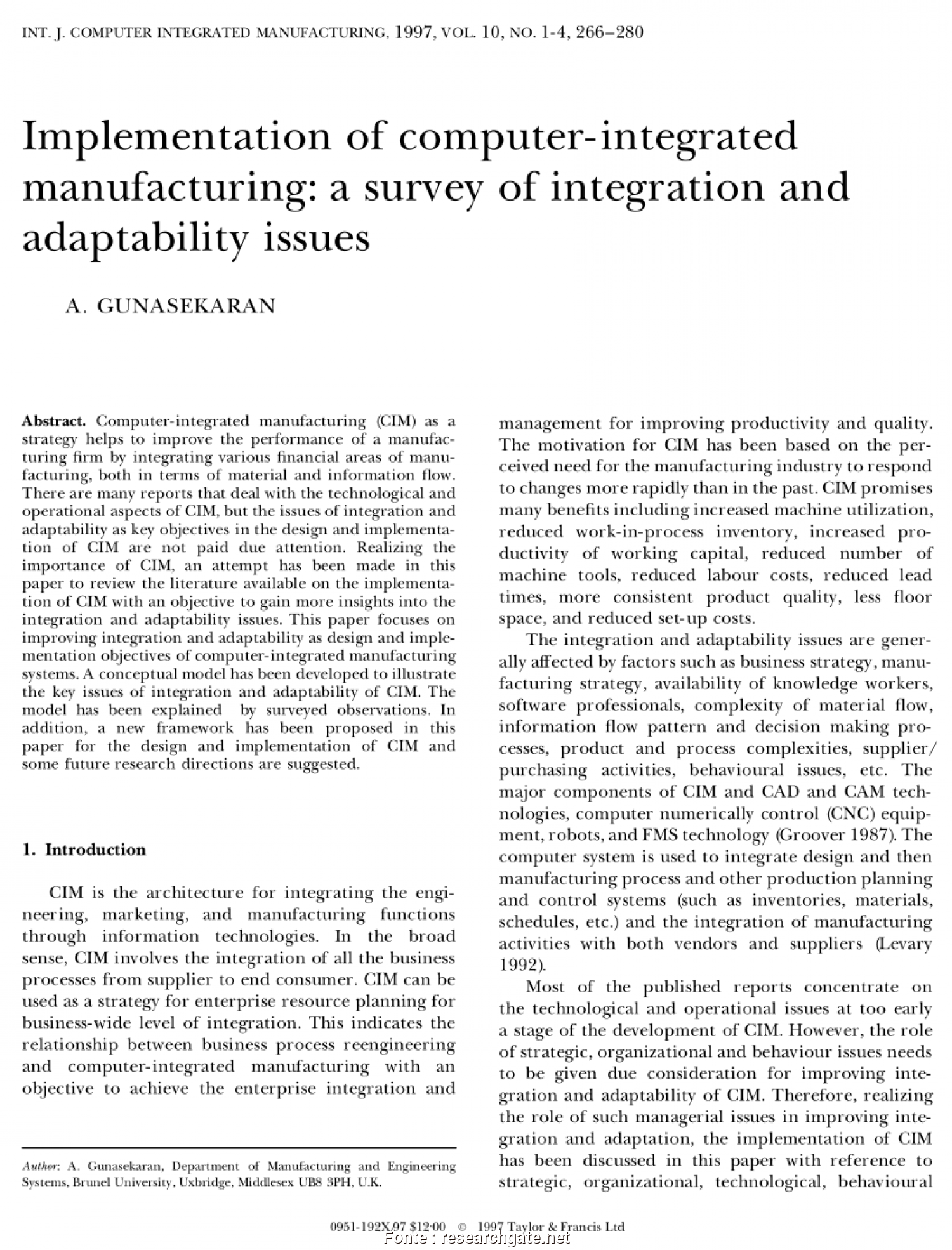 Cim Salotti Sense, Locale (PDF) Planning, Design Of Computer Integrated Manufacturing Systems Using An Expert System