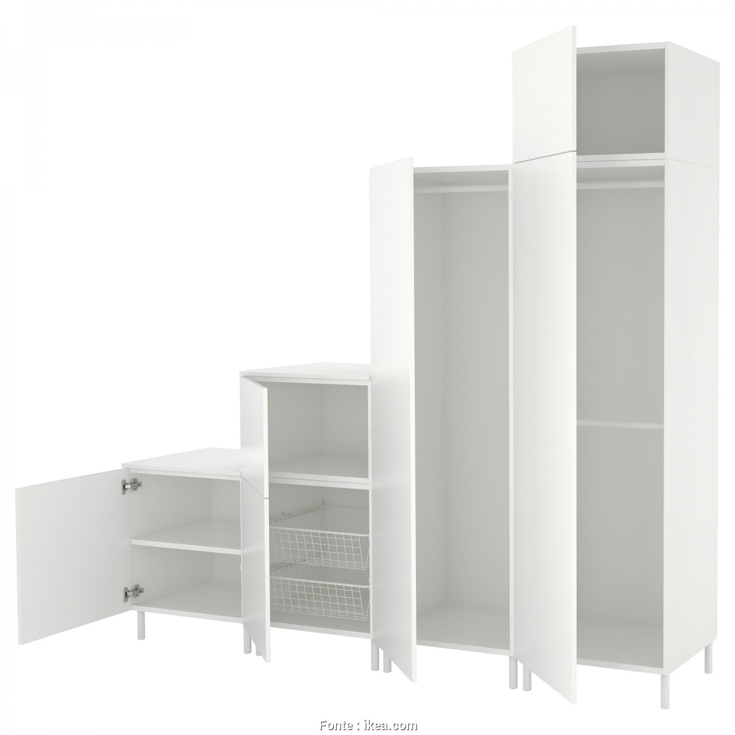 Copricuscini 60X60 Ikea, Esotico IKEA PLATSA Wardrobe Fits Perfectly Under A Sloping Ceiling Or A Staircase