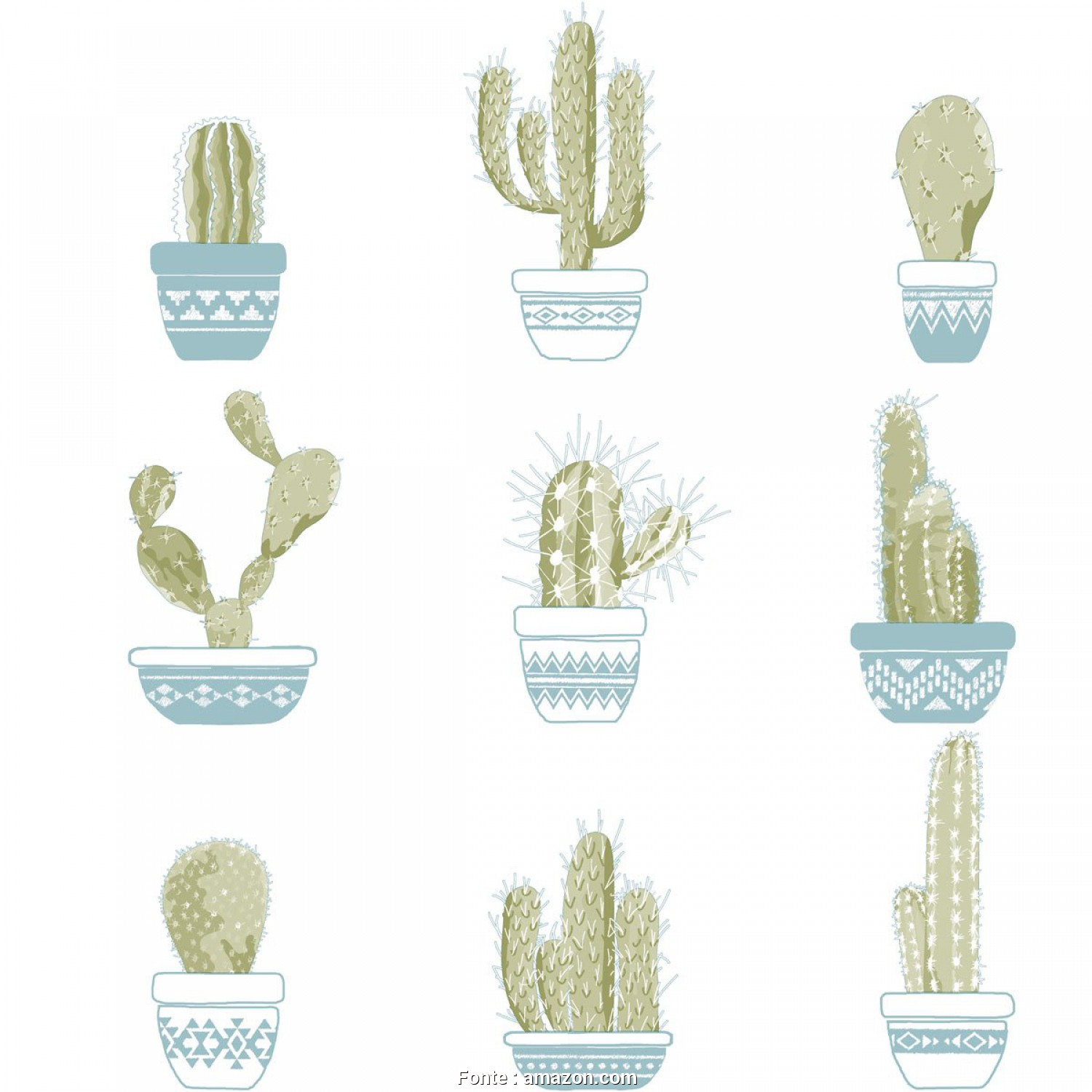 Copridivano Etnico Amazon, Bello Wallpaper, Home, Office, Retail/Funny Cactuses, Perfect, Children & Teens