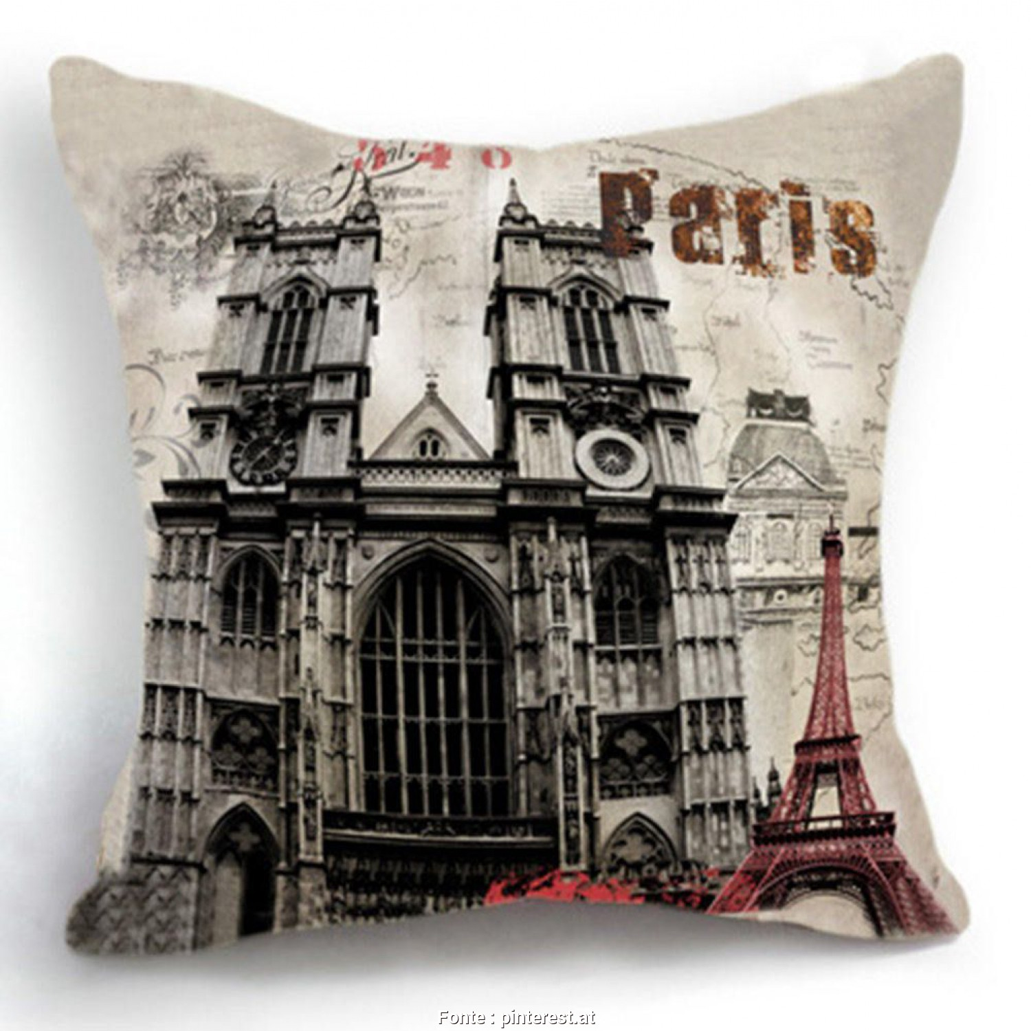 Cuscini Divano Decorativi, Migliore Housse De Coussin Retro Torre Eiffel Di Parigi Home Decor Cuscino Divano Cuscini Decorativi Capa Almofada Cojines Decorativos(China (Mainland))