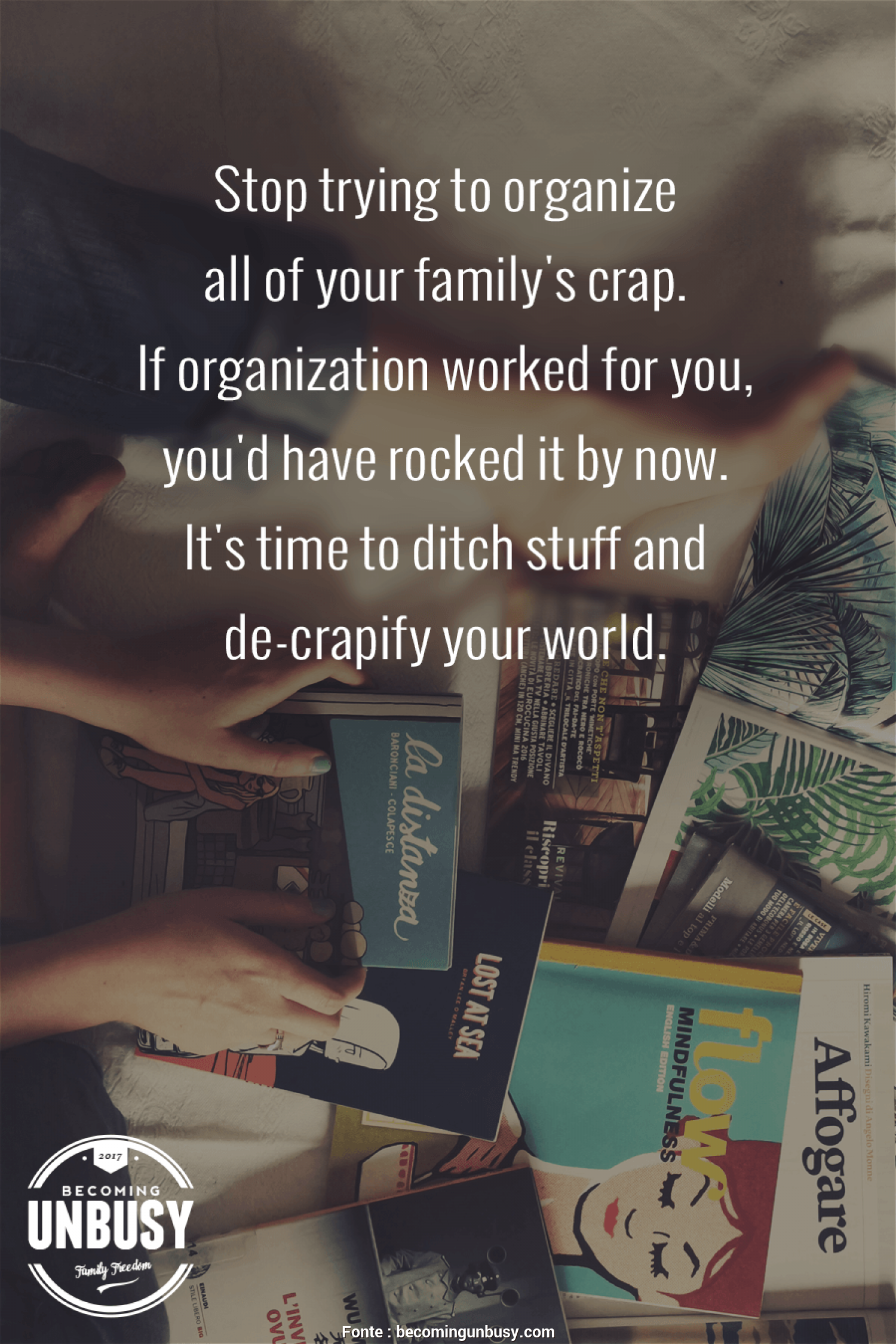 Distanza Giusta, Tv E Divano, Delizioso Stop Trying To Organize, Of Your Family