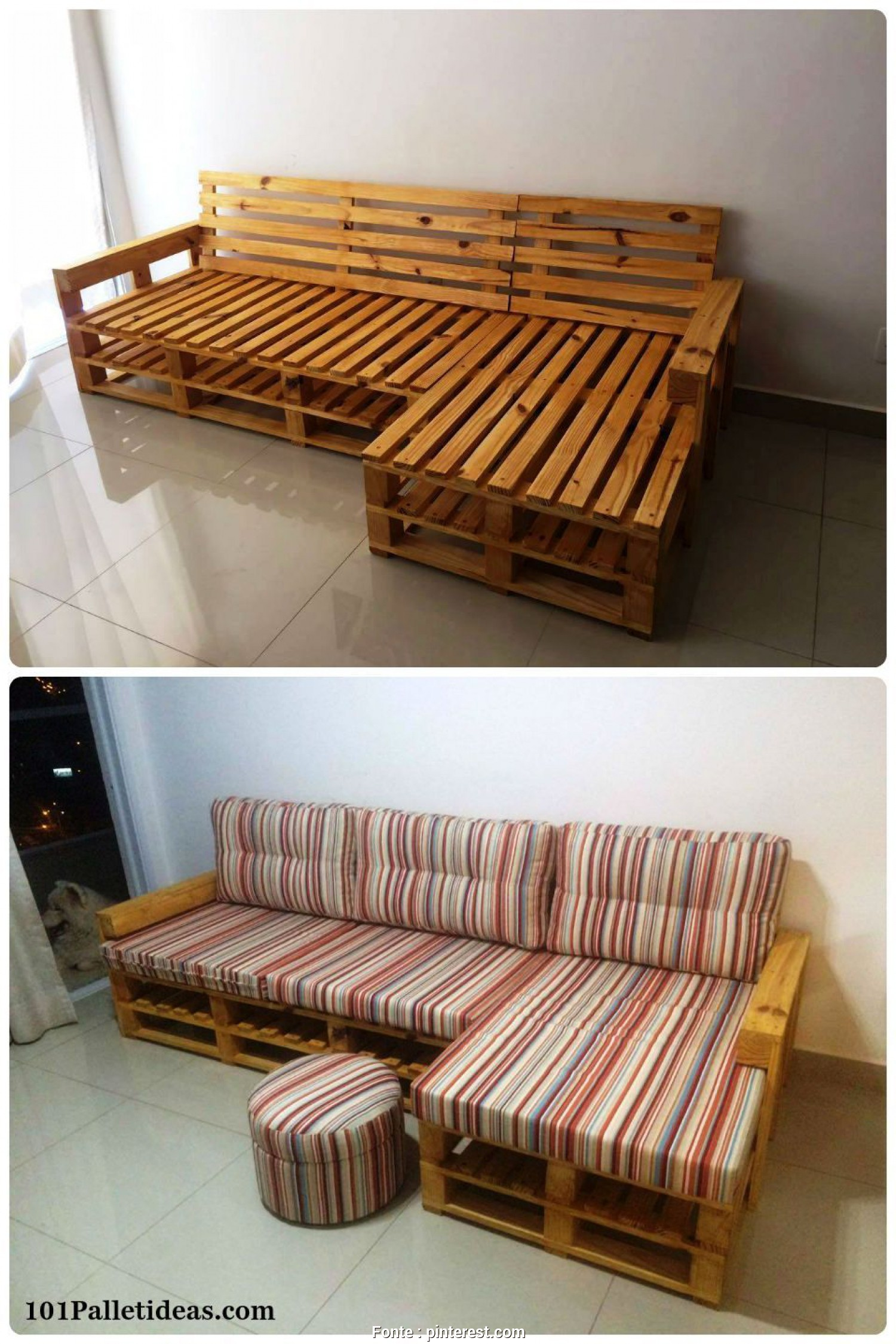 Divani, Pallet Pinterest, Eccezionale Pallet L-Shape Couch Frame, 20 Pallet Ideas, Can, For Your Home, 99 Pallets Más