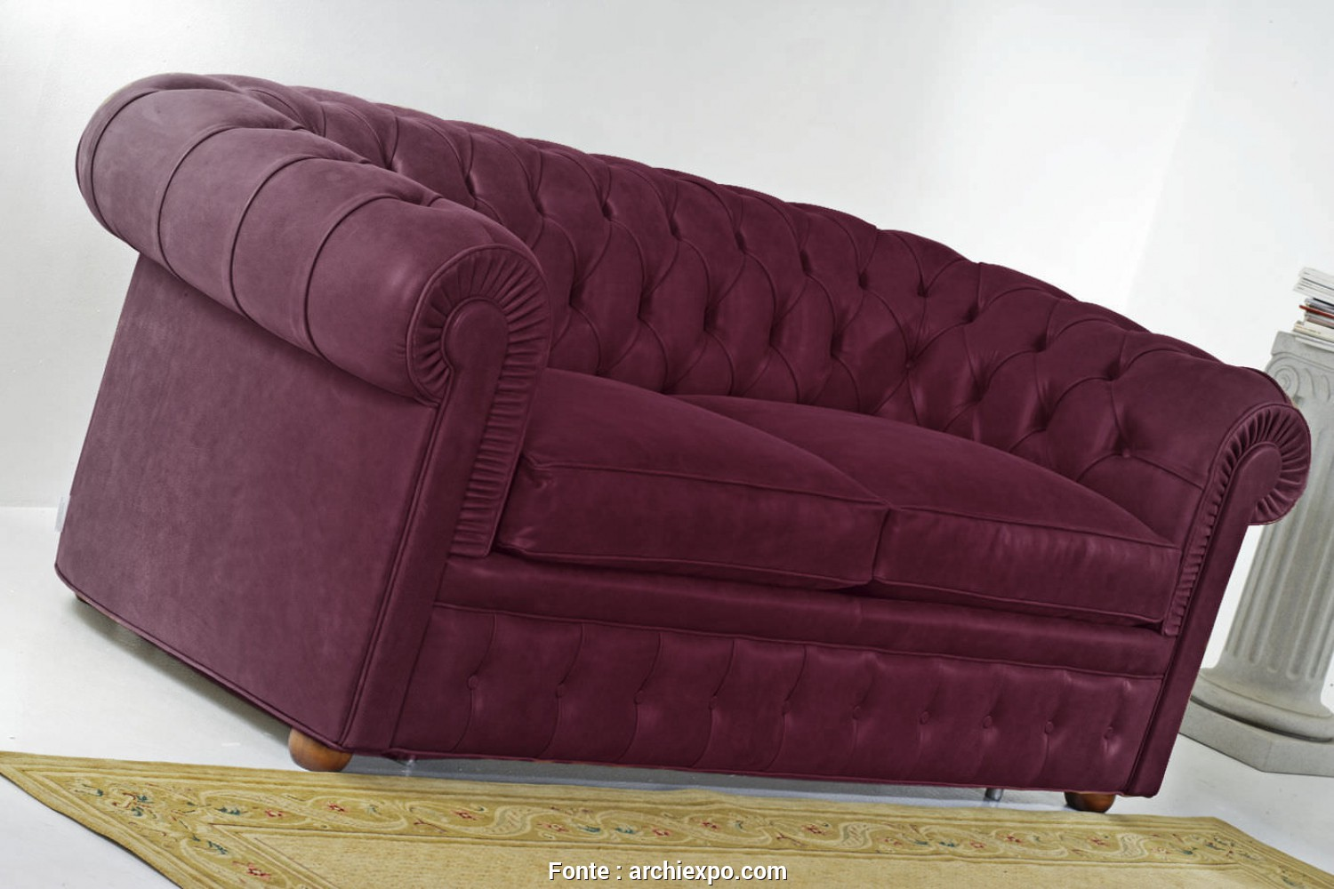 Divani Santambrogio Lissone, Grande Sofa, / Chesterfield / Leather / 2-Person CHESTER CLASSIC Divani Santambrogio
