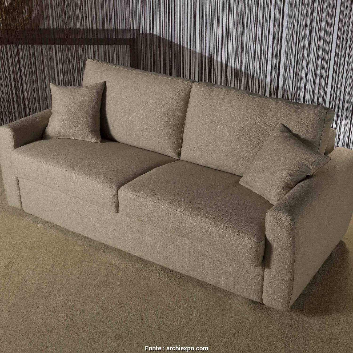 Divani Santambrogio Lissone, Bello Sofa, / Contemporary / Fabric / 3-Seater FEDERICA Divani Santambrogio