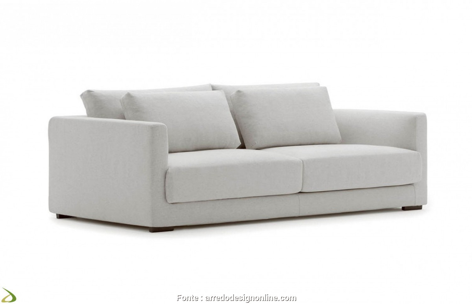 Divano 2 Seater Sofa, Affascinante 2 Seat Sofa With Double Back Cushions