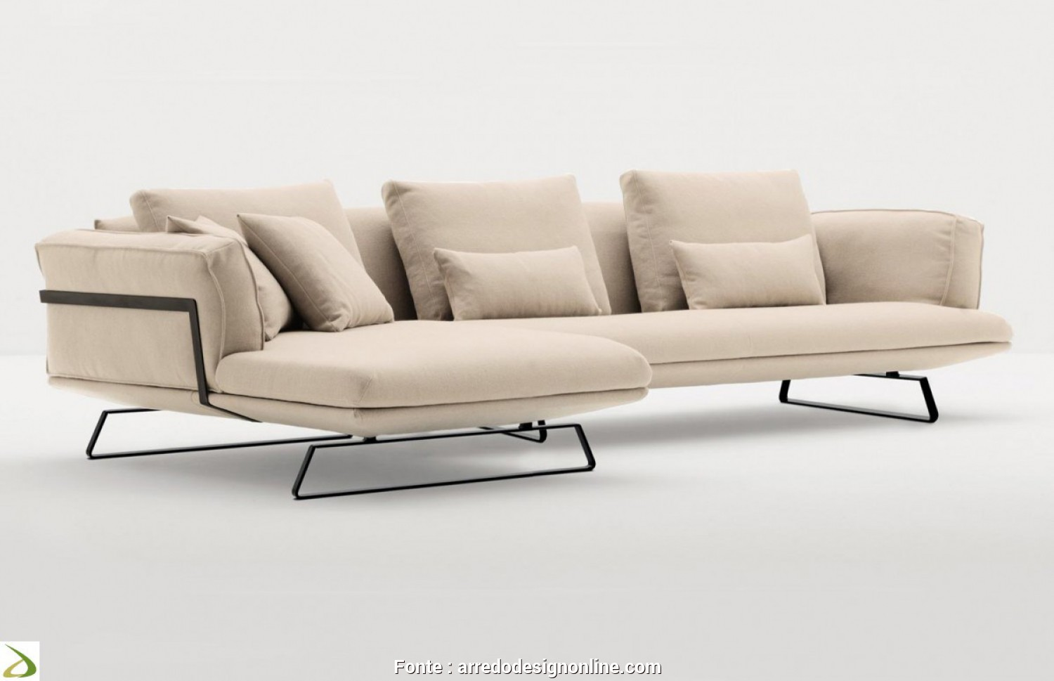 Elegante 6 Divano, Chaise Longue Design