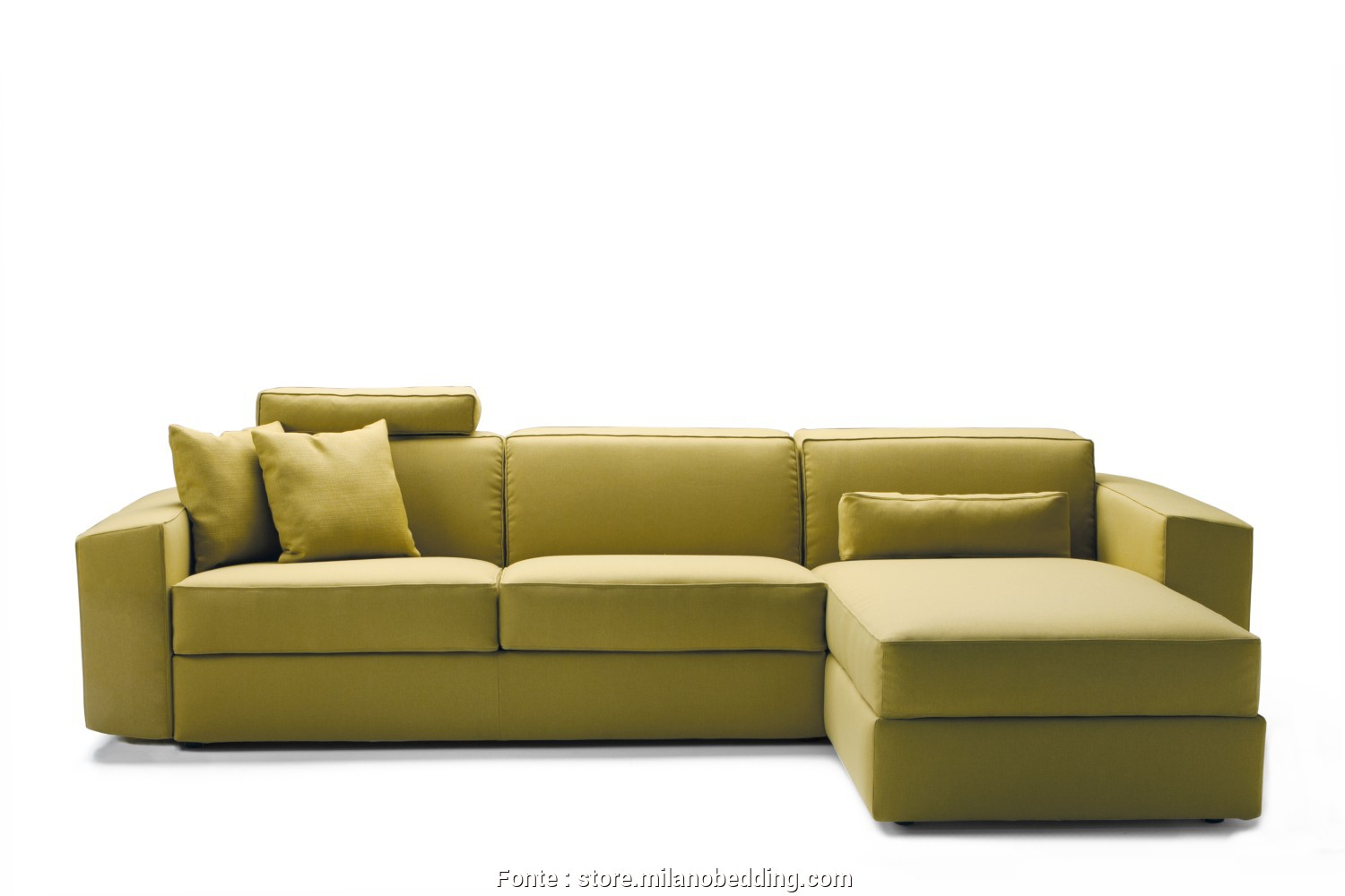 Divano Chaise Longue Grande, Esclusivo Melvin Sofa, With Storage Chaise Longue Completed With An Optional Headrest