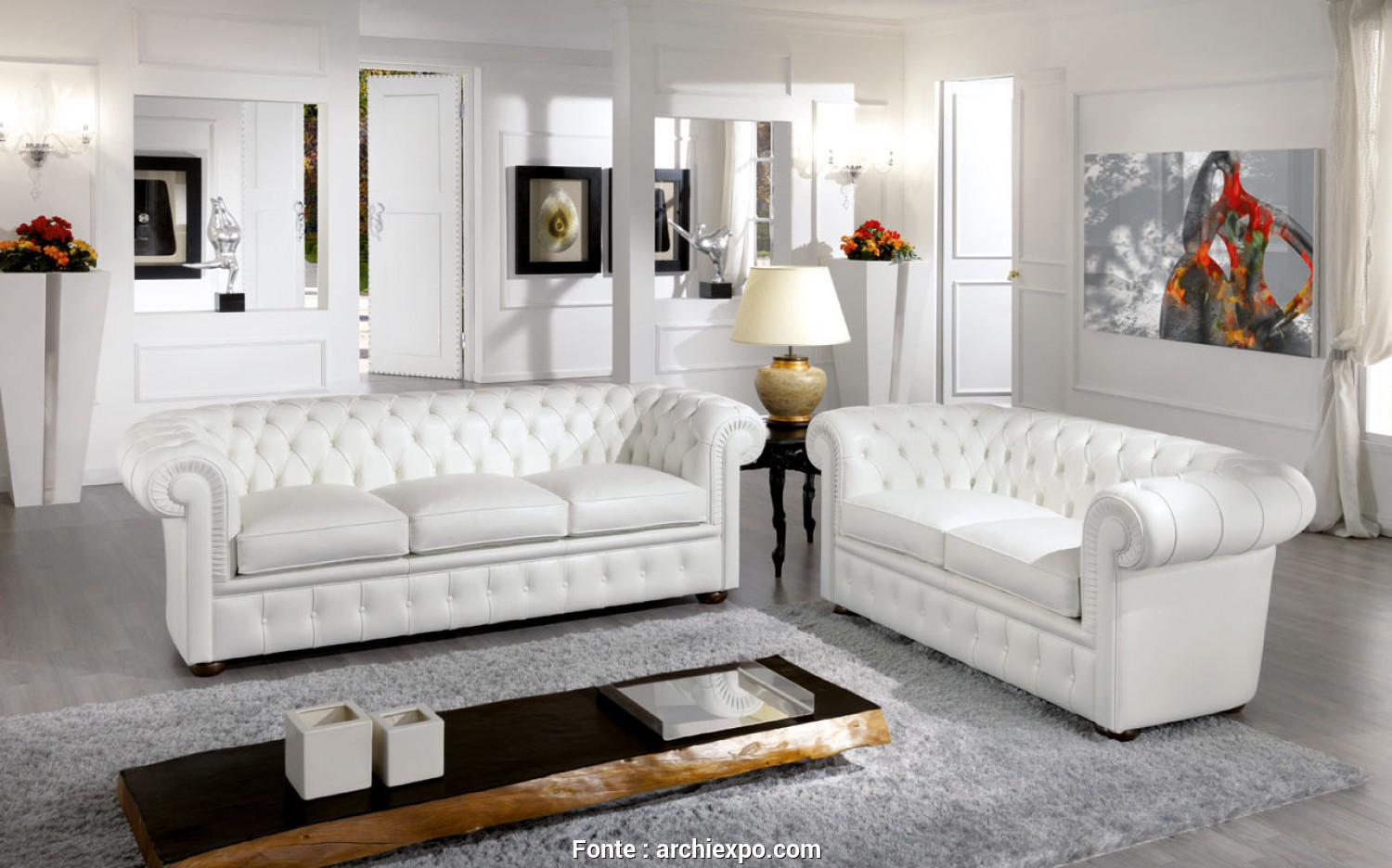 Amabile 6 Divano Chesterfield Design