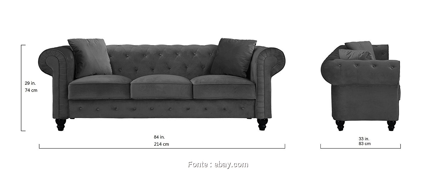 Divano Chesterfield Ebay, Costoso Details About Divano Roma Furniture Classic Velvet Scroll, Tufted Button Chesterfield