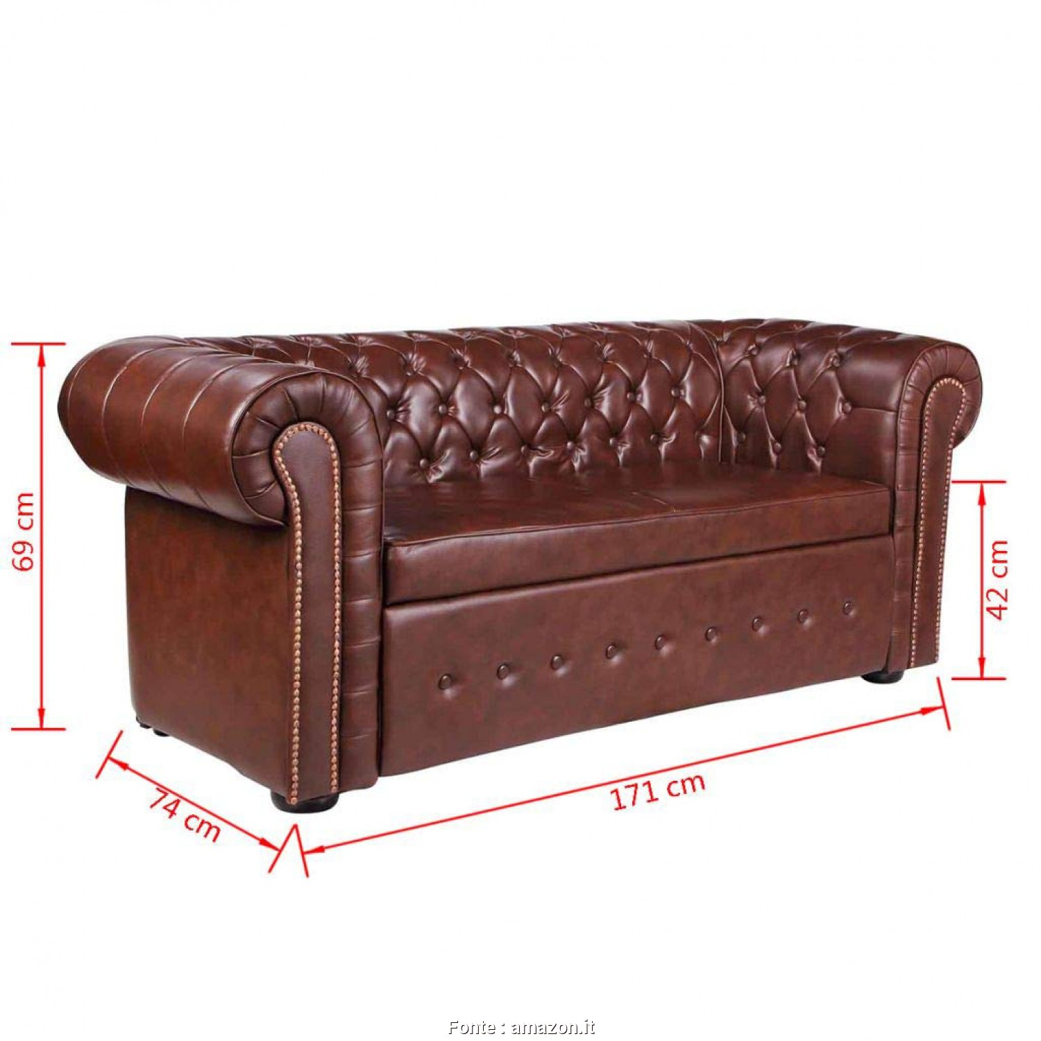 Divano Chesterfield Moderno, Loveable VidaXL DIVANI CHESTERFIELD DIVANO MODERNO CHESTERFIELD STILE CAPITONNE