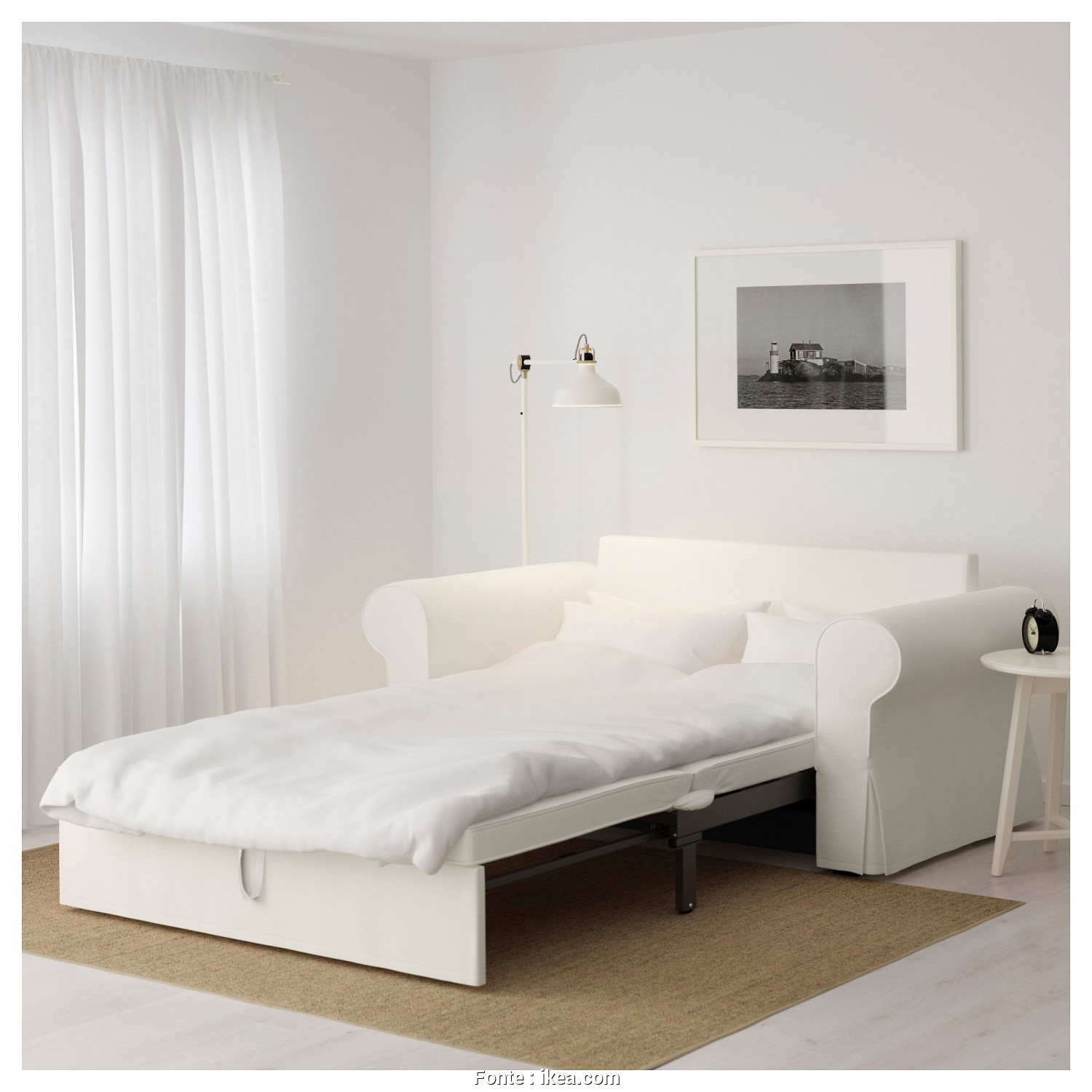 Divano Country Ikea, Favoloso BACKABRO Two-Seat Sofa-Bed Hylte White