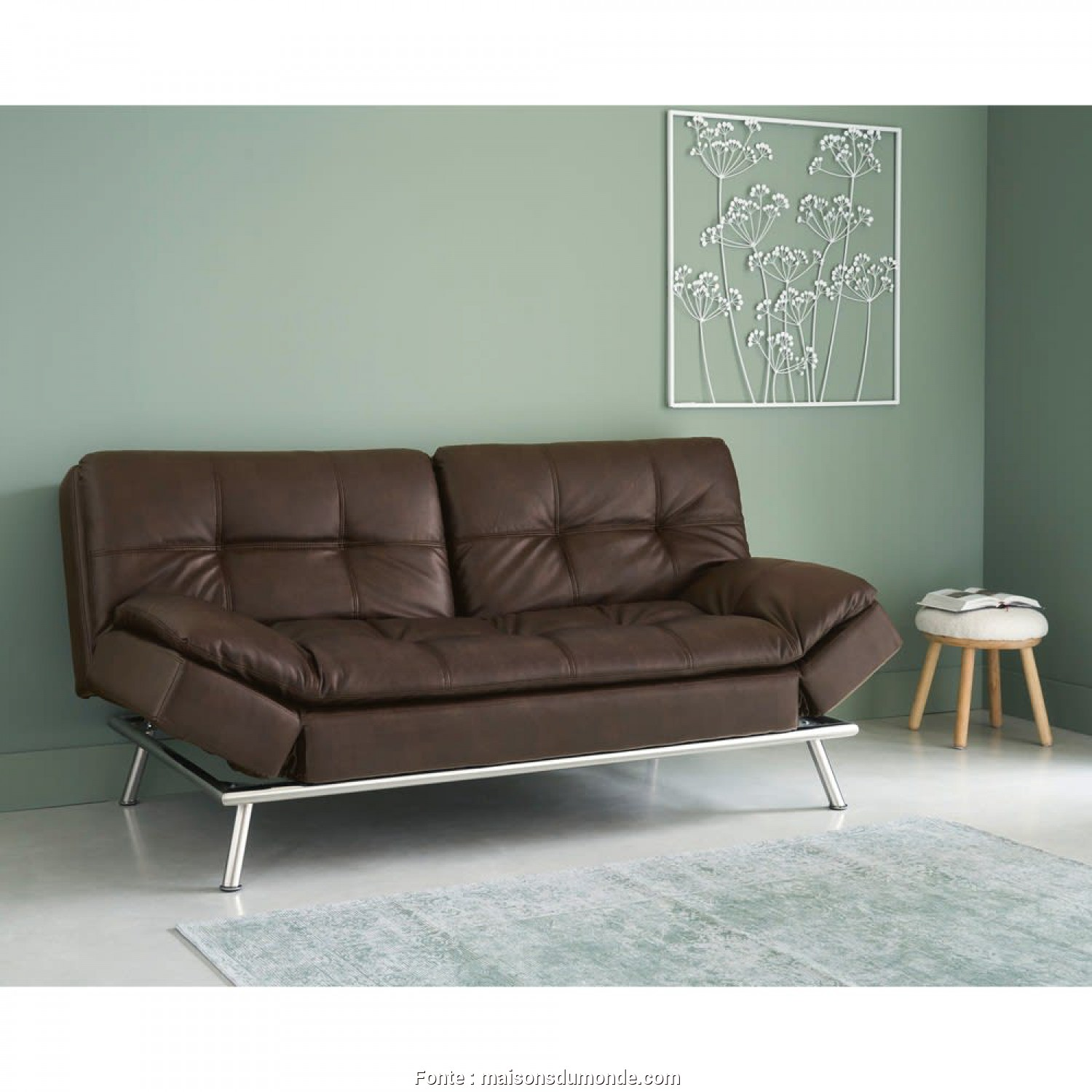 Divano Denver Maison Du Monde, Bello Brown 3-Seater Tufted Clic Clac Sofa, Denver