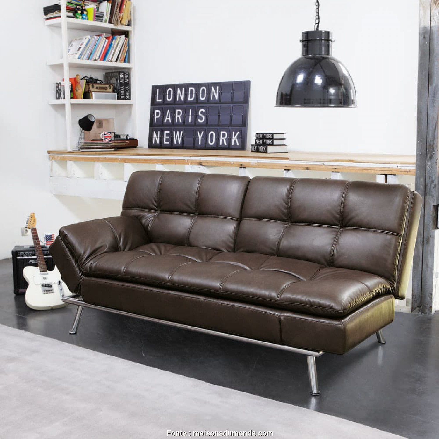Divano Denver Maison Du Monde, Maestoso Brown 3-Seater Tufted Clic Clac Sofa, Denver