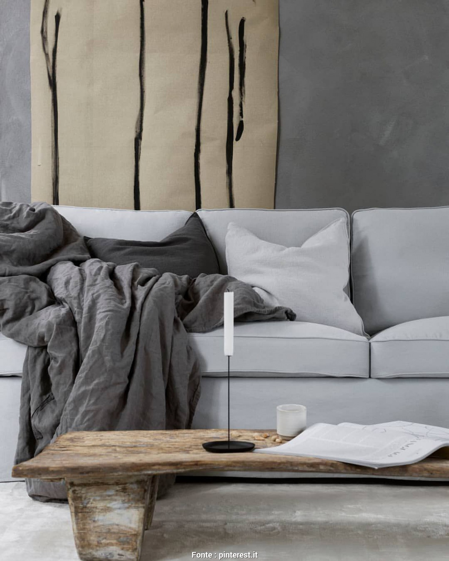 Divano Ektorp Grigio, Magnifico This Cosy Space Is Giving Us, The *Feels*, Featuring An #IKEA Ektorp Sofa With A Bemz Cover In Silver Grey Rosendal Linen, Styling:…