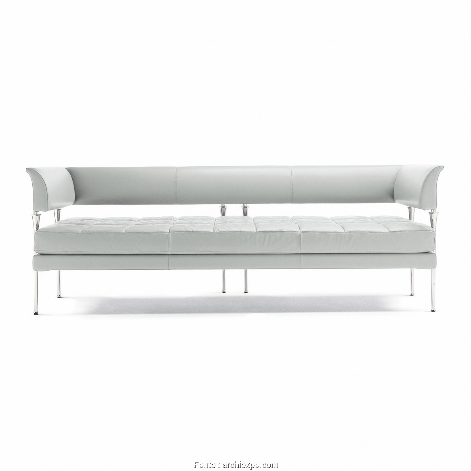 Divano Frau Fumoir, Buono Contemporary Sofa / Leather / 3-Seater / 2-Person, HYDRA CASTOR By Luca Scacchetti