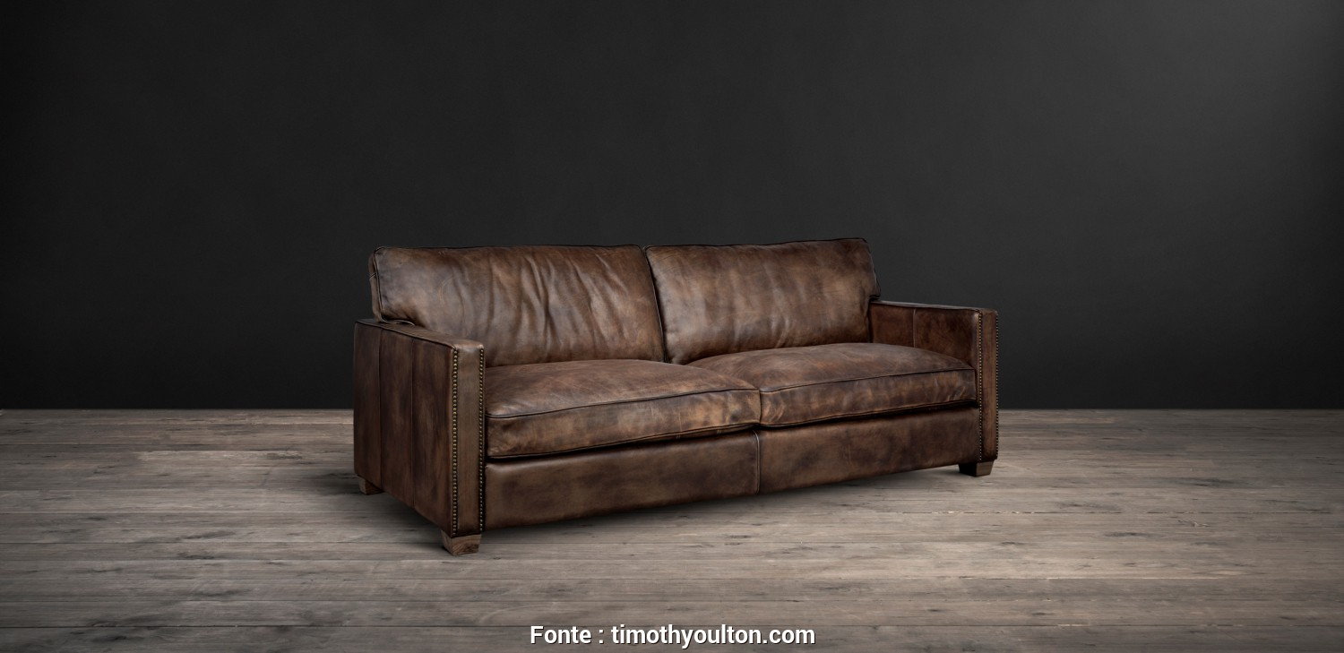 Divano Futon Beat Bianco/Ecru, Ideale Timothy Oulton Classic Leather Sofa, Viscount William Leather Sofa From Side