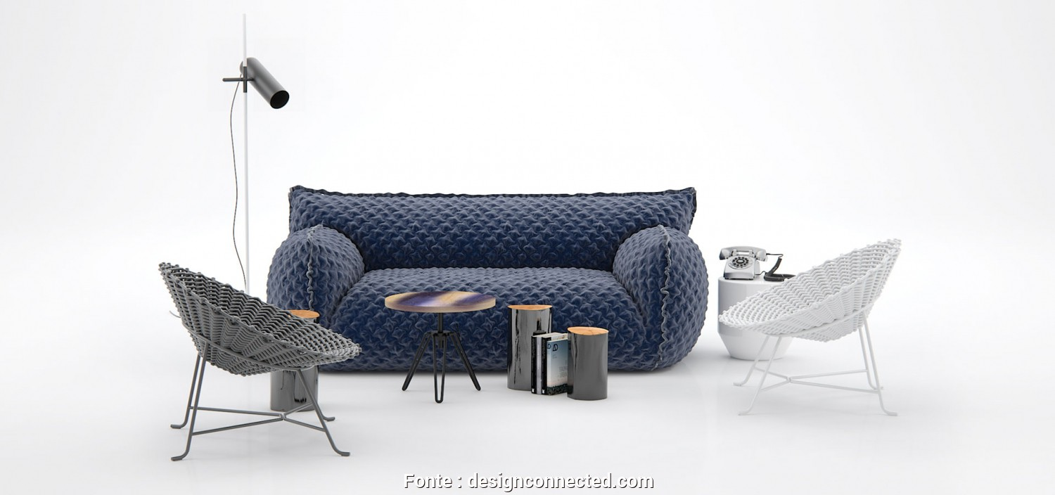 Divano Letto, 3D, Casuale Design Connected: 3D Models Of Furniture, Interior Design