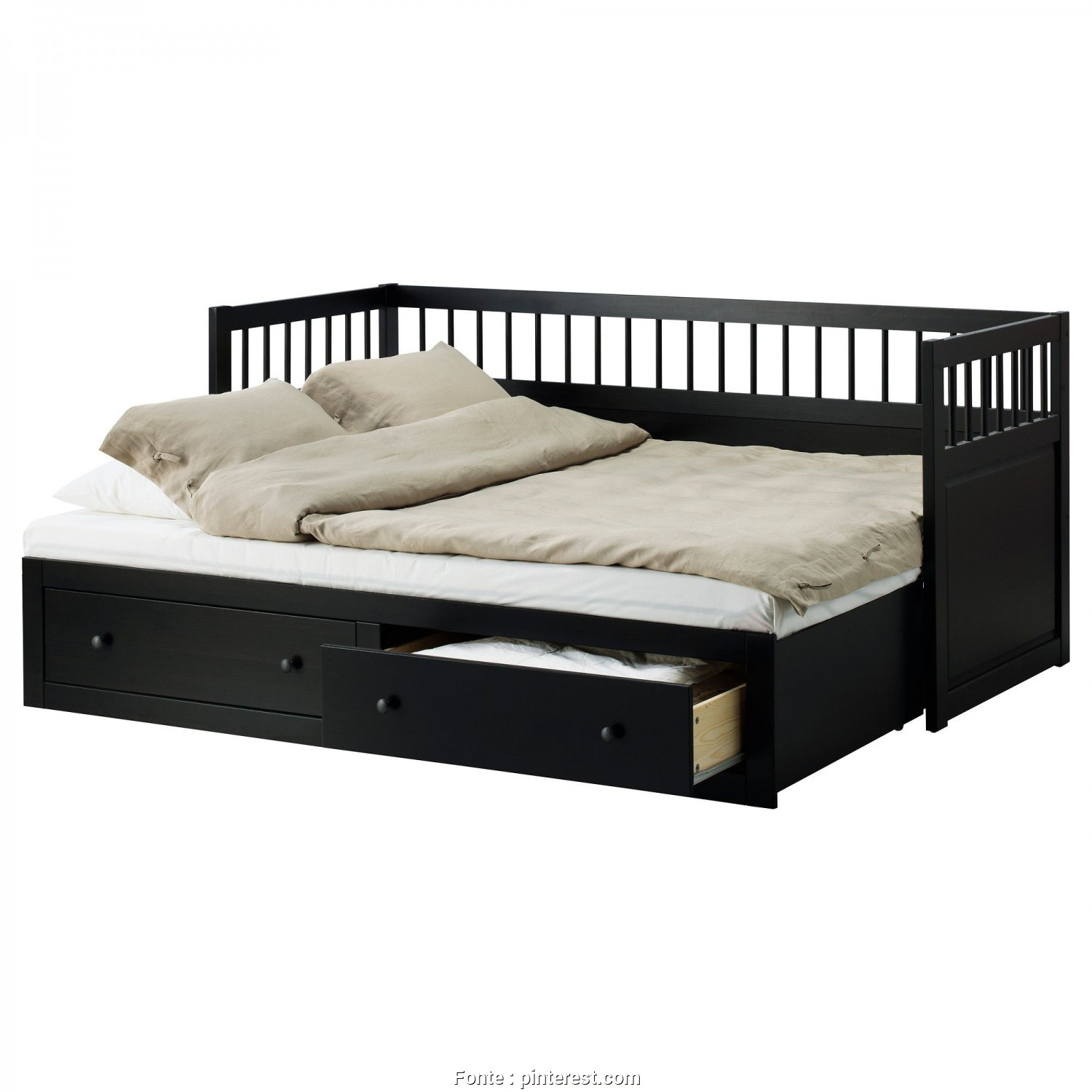 Divano Letto Ikea Flekke, Divertente Awesome Wooden Painted Black Best IKEA Daybed With Trundle With Tuxedo Backseat Models In Modern Master Bedroom Decors