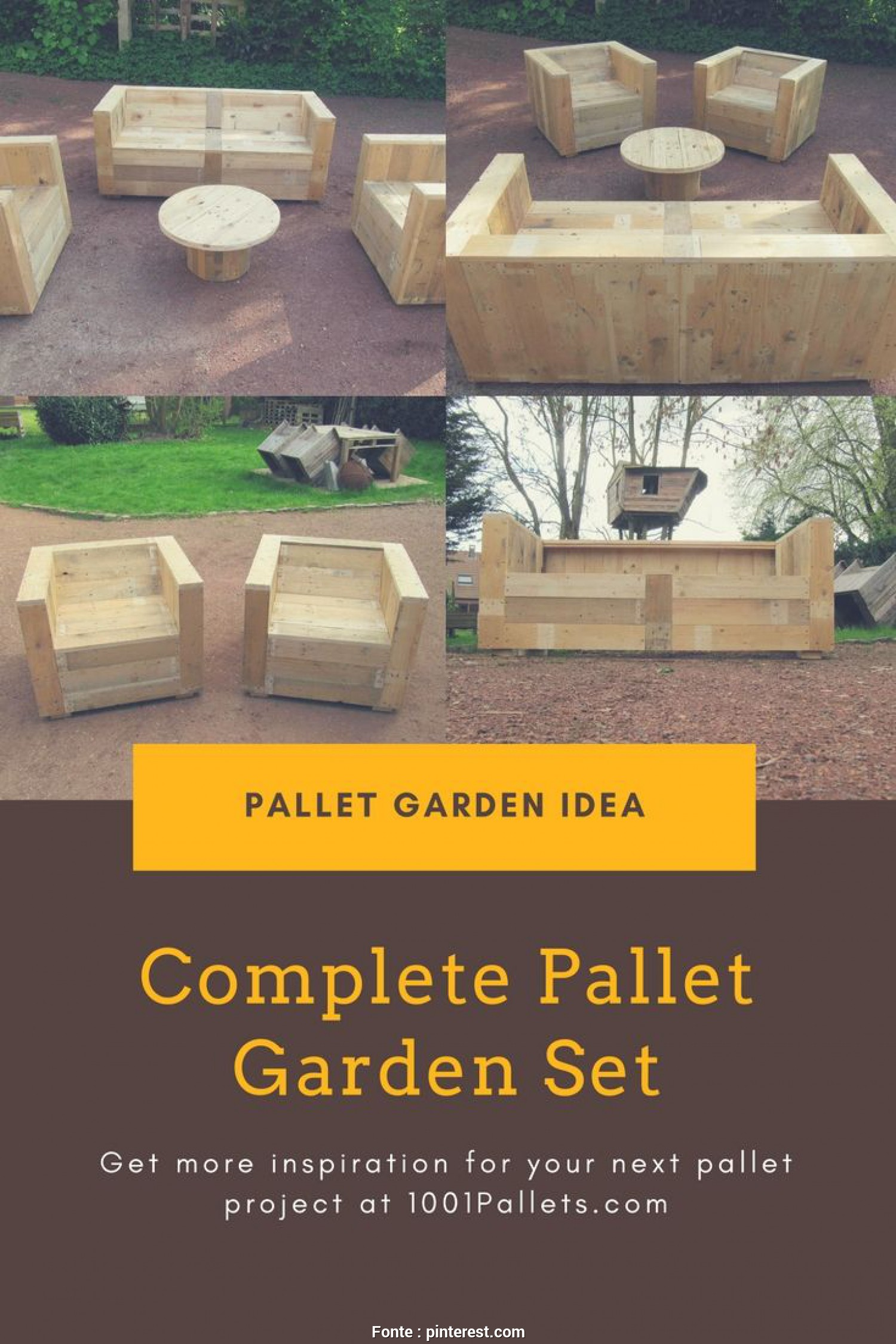 Divano Pallet Pdf, Deale I Already Posted My Pallet Tree House, Here Is What I Made To Complete, Garden