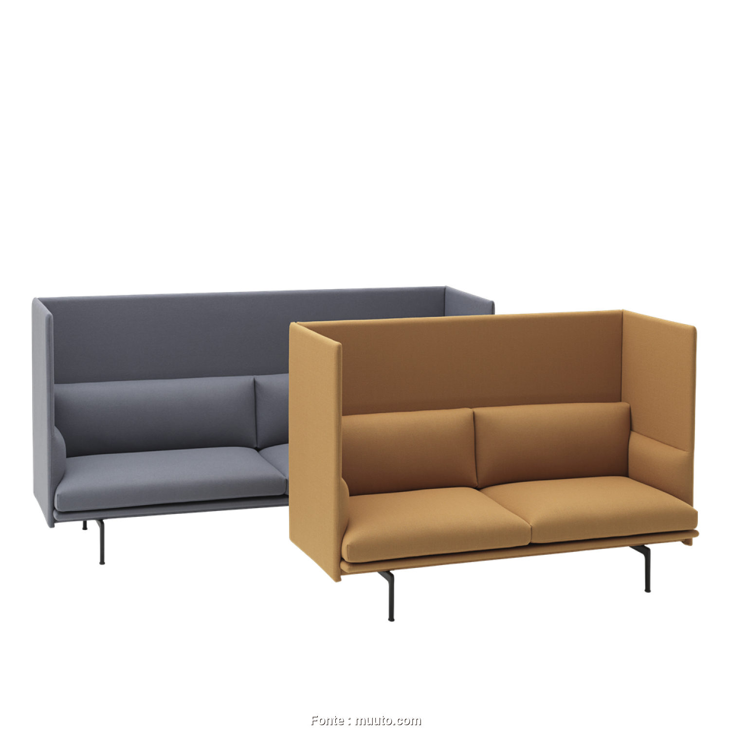 Divano Samoa Comfy, Bellissimo Outline Highback Sofa, An Elegantly Comfortable Design