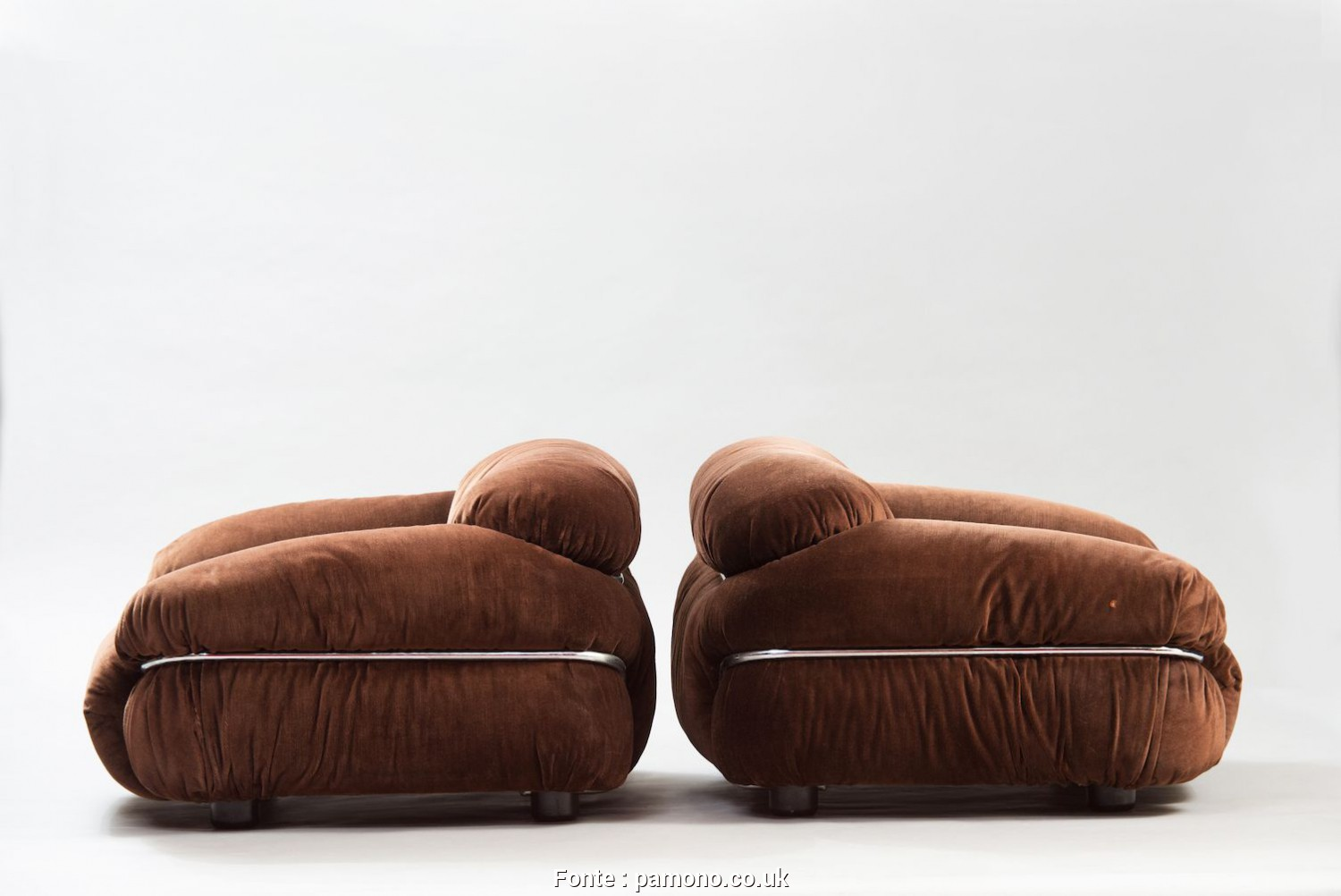 Divano Sesann Cassina, Bello Vintage Sesann Armchairs By Gianfranco Frattini, Cassina,, Of 2