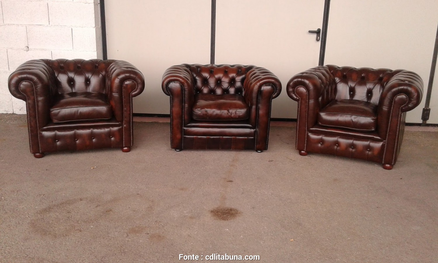 Divano Usato In Pelle, Incredibile Poltrone Chesterfield Vintage Originali In Pelle