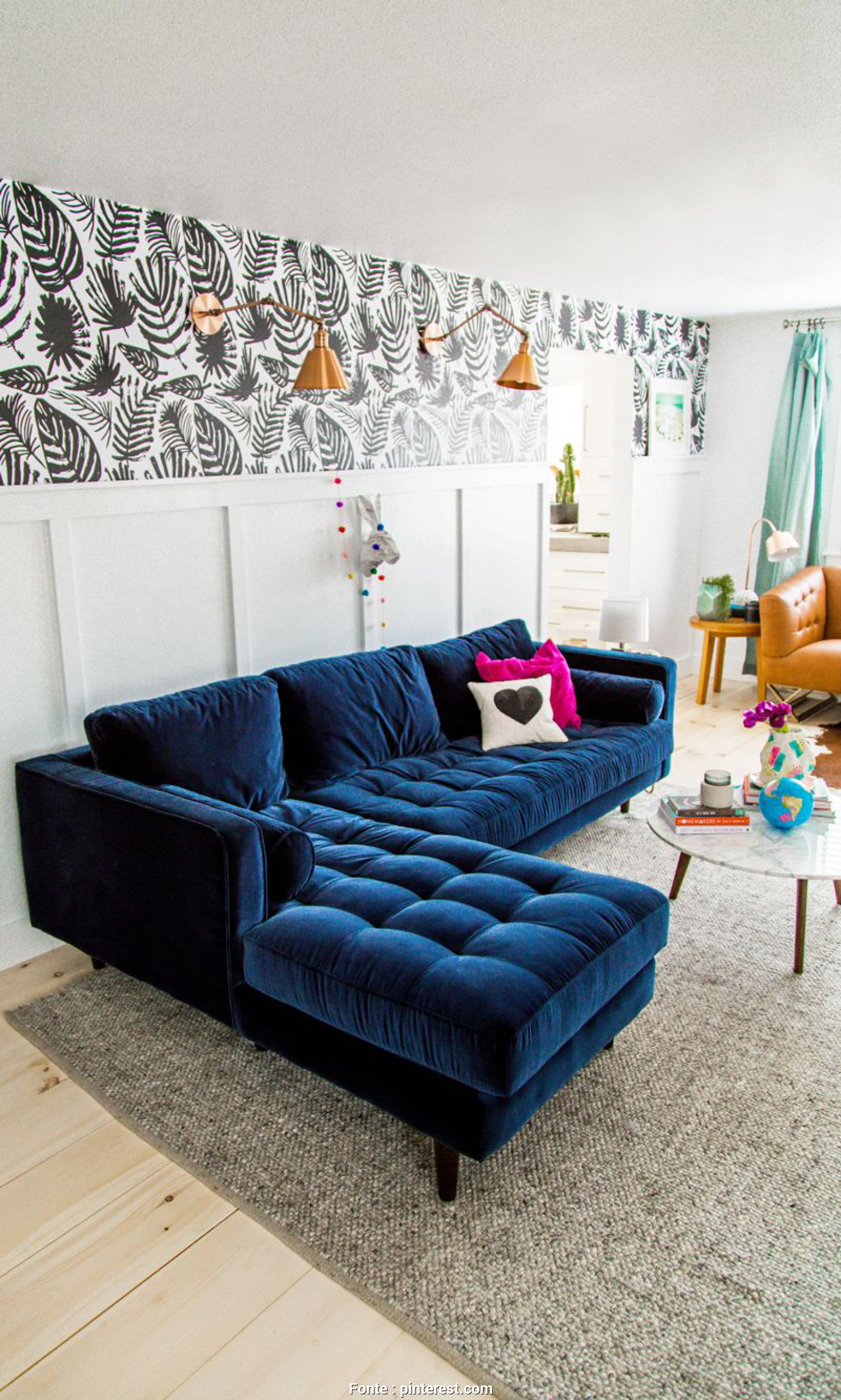 Divano Vintage Subito.It, Completare Our Living Room Reveal, Celebrate, Pinterest, Living Room, Room