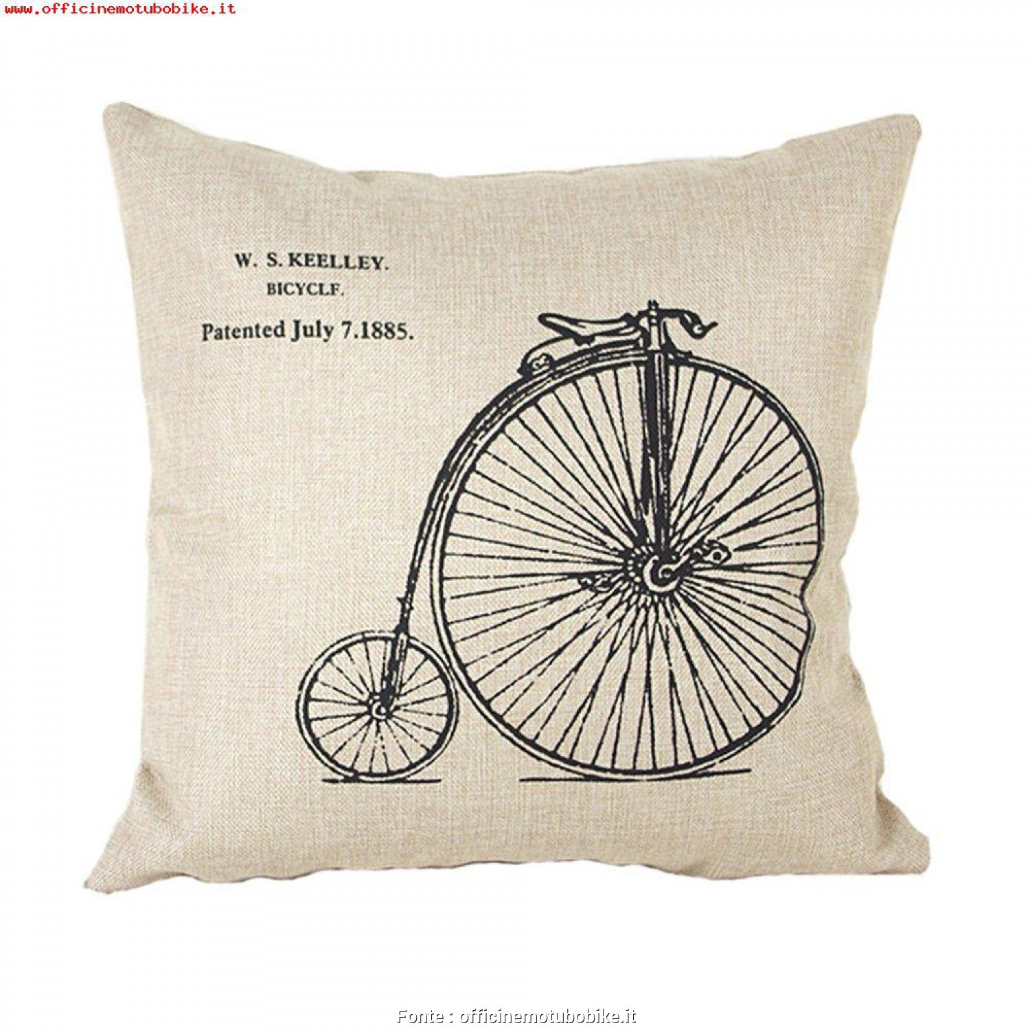 Federe Cuscini Grandi Divano, Superiore Ineguagliabile Luxbon-Cotton Lino Throw Pillow Covers Cuscino Decorativo Federa Bike, Ruota Grandi E Piccole