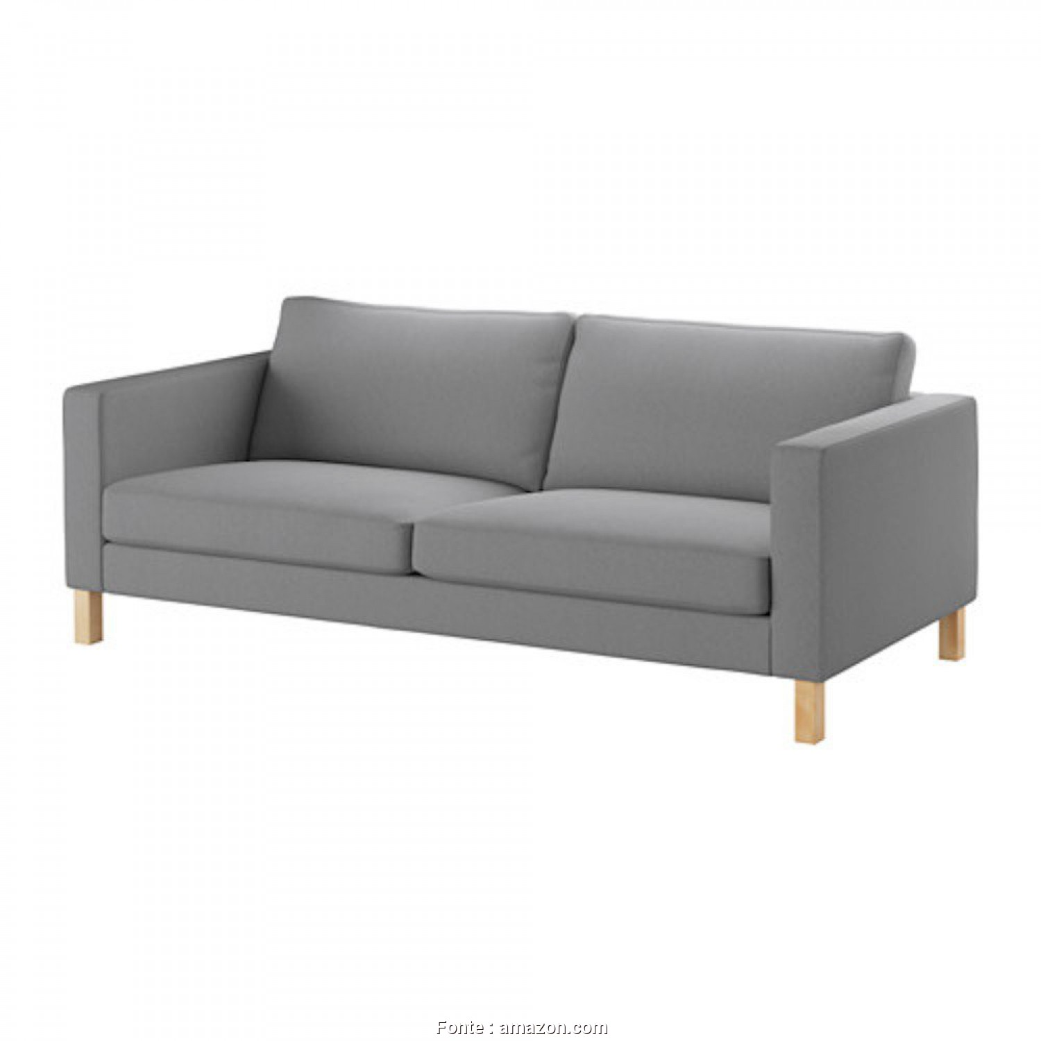 Futon 2 Places Ikea, Eccezionale Amazon.Com: Ikea KARLSTAD Sofa Cover Slipcover, Knisa Light Gray Grey, 603.230.16 [Exact, Cover, IKEA Karlstad Knisa Light Gray Only]: Home & Kitchen