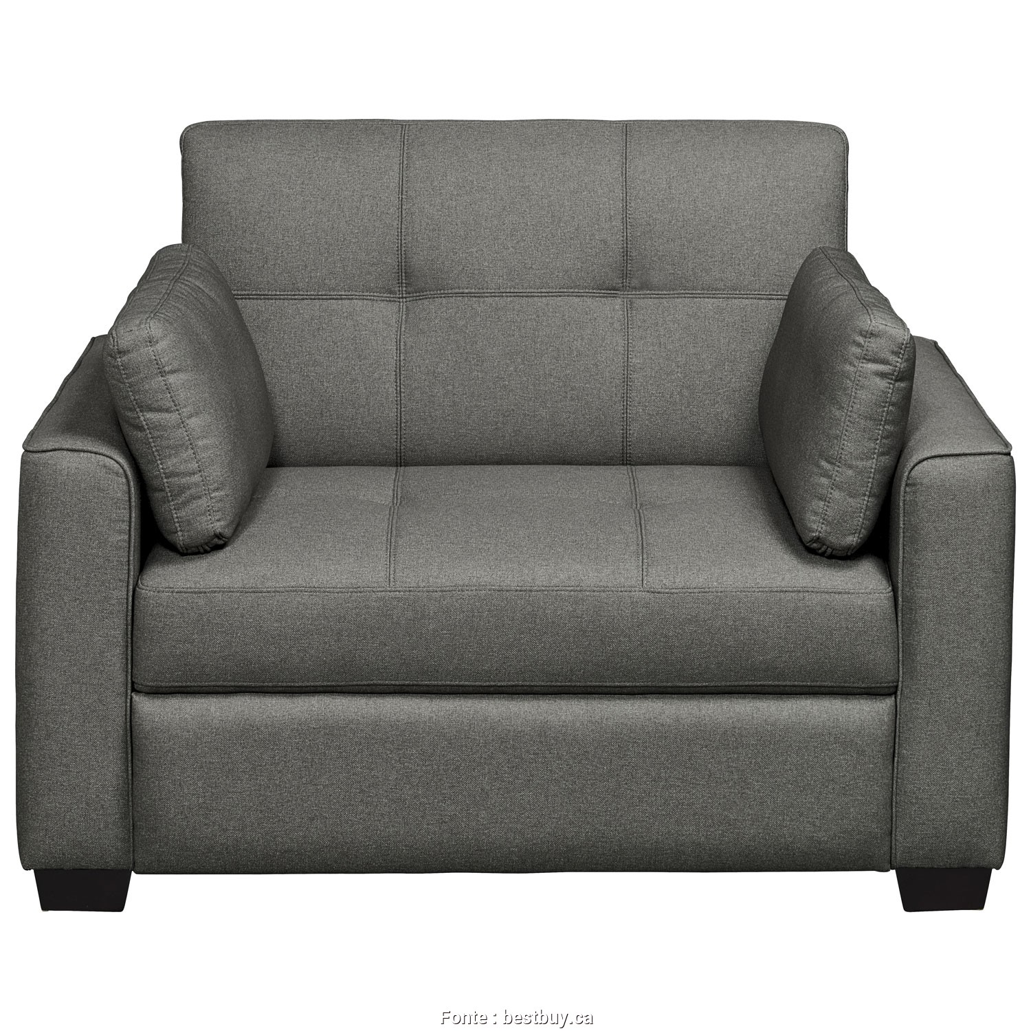 Futon Ikea A Vendre, Modesto Olsen Transitional Fabric Sofa,, Single, Grey