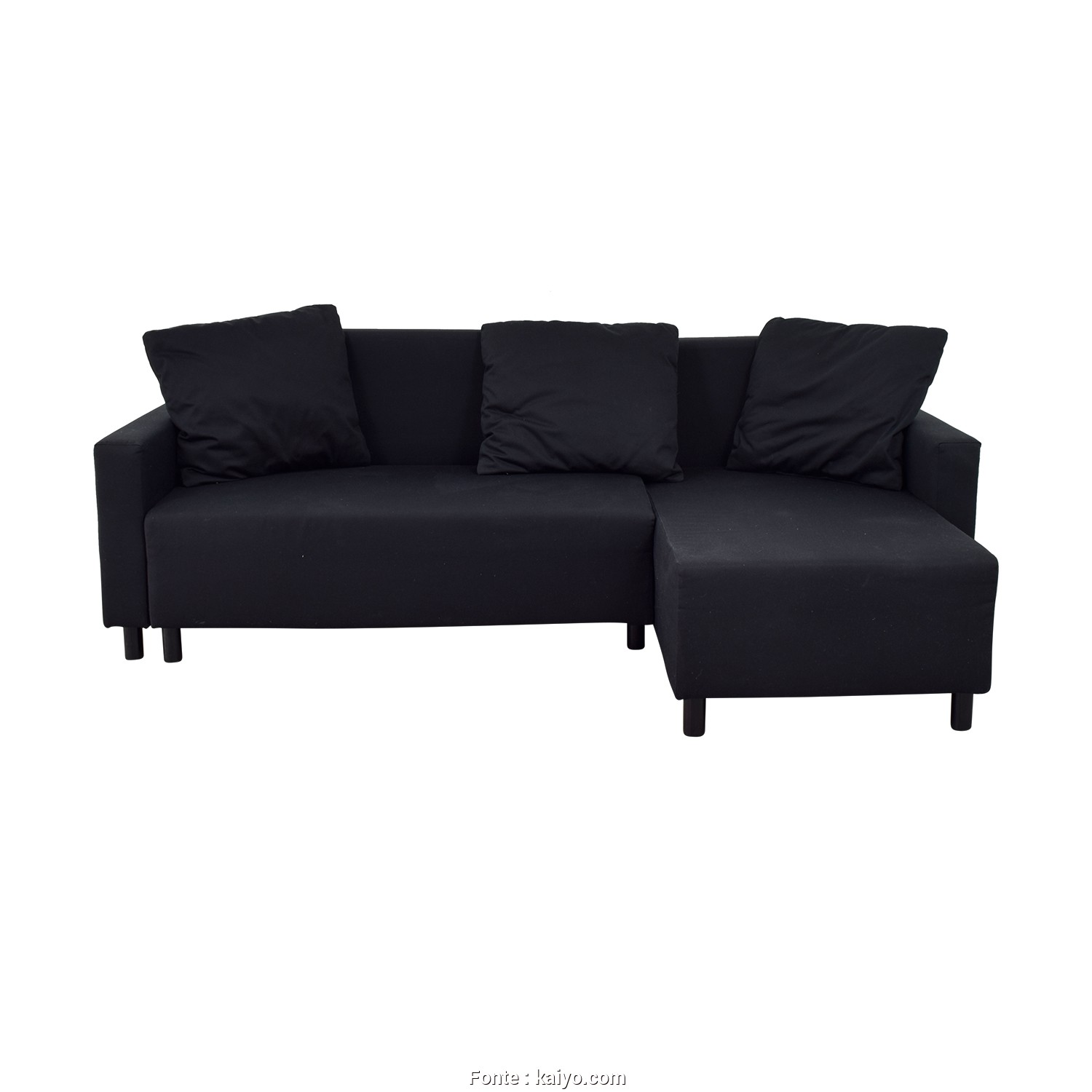 Futon Ikea Balkarp, Classy IKEA IKEA Black Sleeper Chaise Sectional With Storage Used