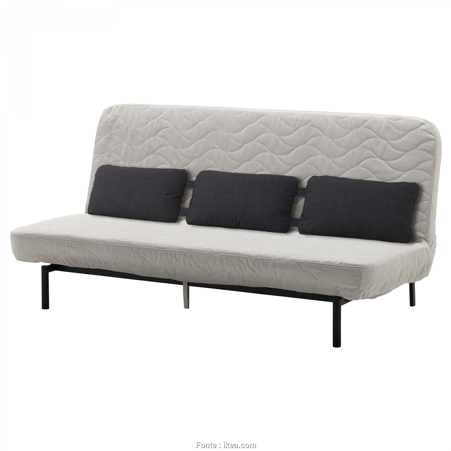 Futon Ikea Balkarp, Favoloso NYHAMN Sleeper Sofa With Triple Cushion, With Foam Mattress, Borred Light Beige