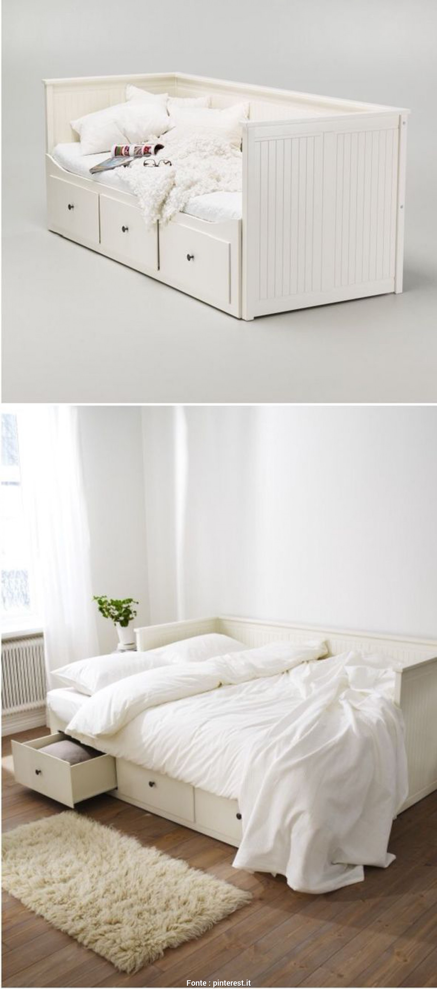 Hemnes Letto Ikea, Affascinante Another Office/Guest Room Solution IKEA Hemnes, Bed Camera, Divano Letto, Divano