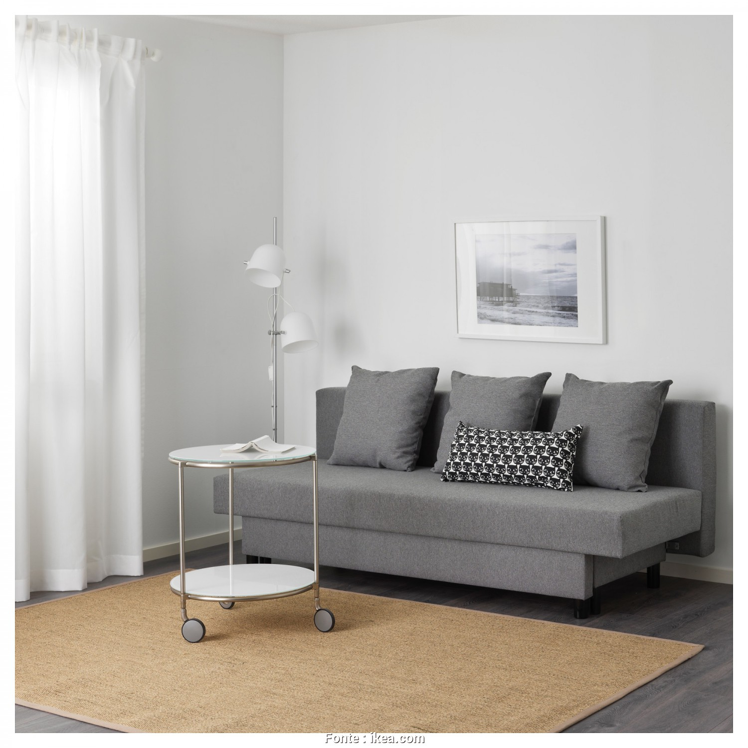Ikea Asarum Assembly, Delizioso ASARUM Three-Seat Sofa-Bed, Grey