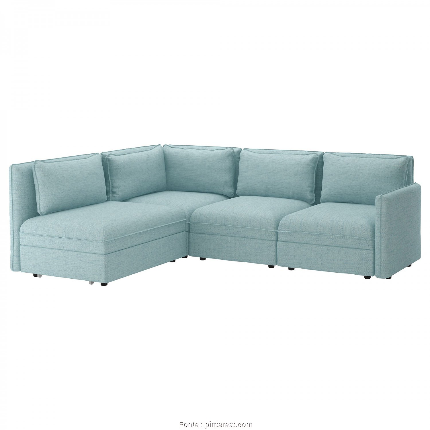 Ikea Backabro 3 Posti, Grande VALLENTUNA, Sectional, 3 Seat W Slpr Sect -, Storage/Hillared Light Blue, IKEA