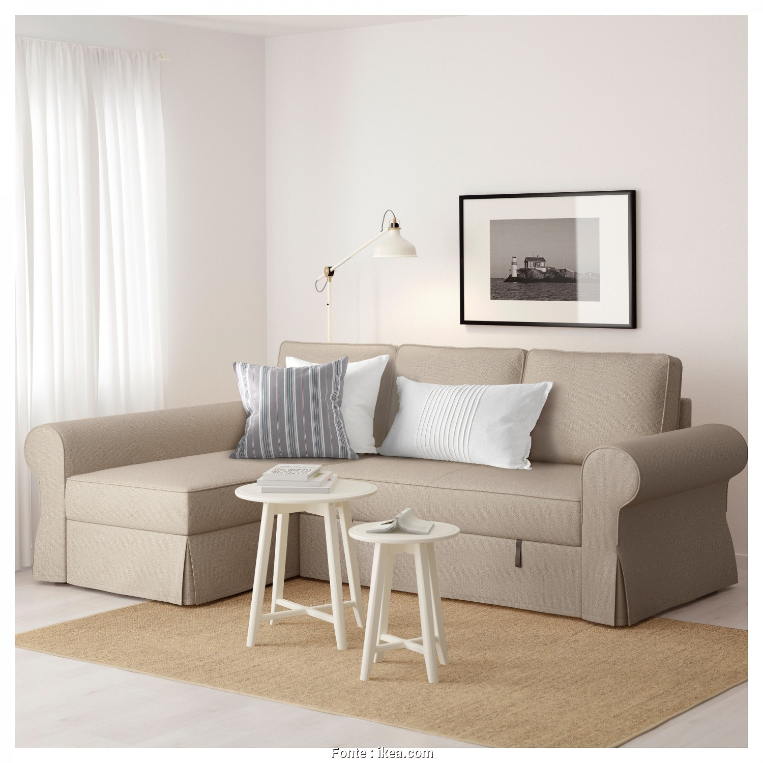 Ikea Backabro Bed, Ideale BACKABRO Sofa, With Chaise Longue Hylte Beige