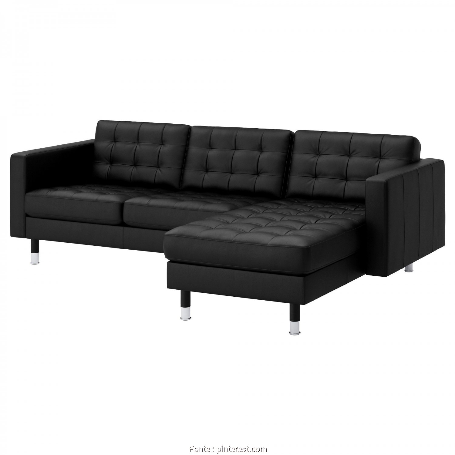 Ikea Backabro Bettsofa, Delizioso LANDSKRONA Two-Seat Sofa, Chaise Longue Grann/Bomstad Black/Metal, IKEA