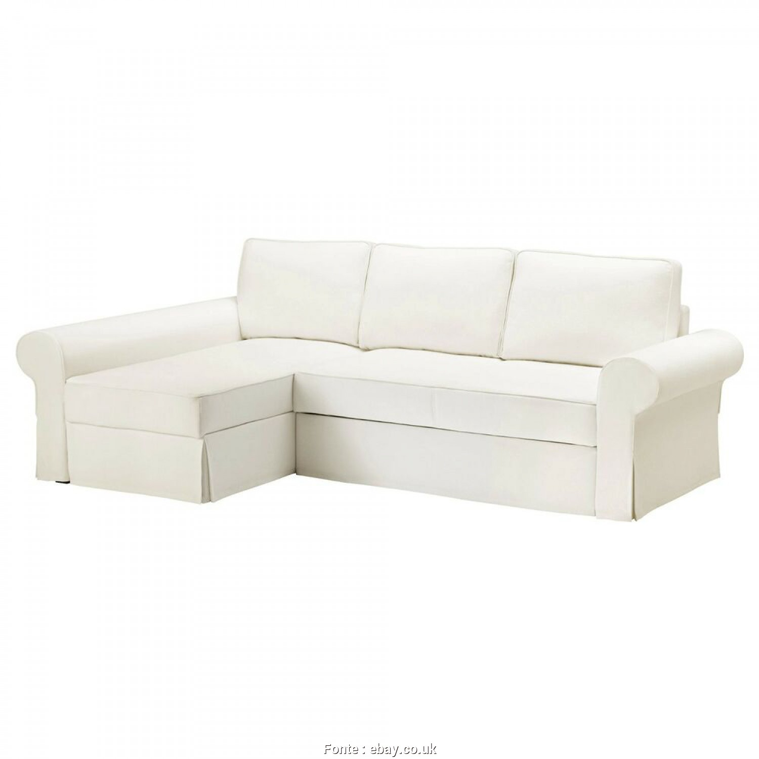 Ikea Backabro Ebay, Completare Details About Ikea BACKABRO Cover Sofa-Bed With Chaise Longue Hylte White