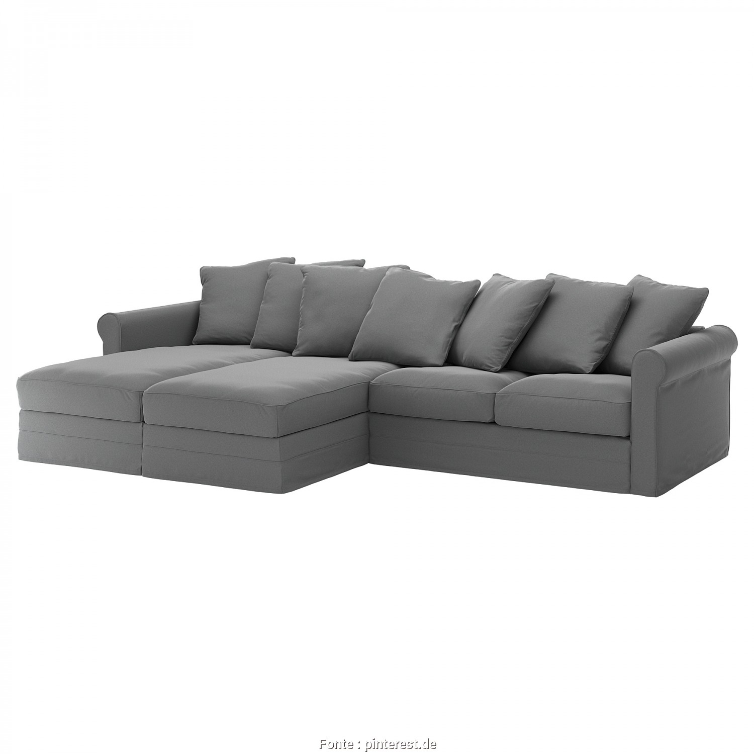Ikea Backabro Kissen, Grande GRÖNLID Sectional, 4-Seat, With Chaise, Inseros White