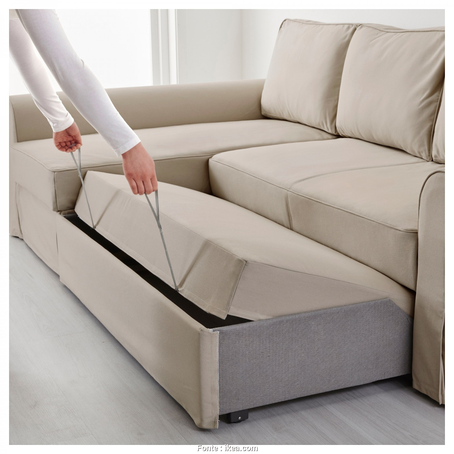 Ikea Backabro Sofa, Assembly Instructions, Grande IKEA BACKABRO Sofa, With Chaise Longue Readily Converts Into A Bed